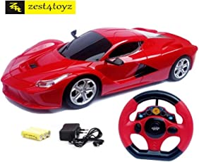 Zest 4 Toyz Steering Remote Control Racing Car, Assorted Design & Colors