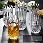 PrimeWorld Crystal Touch Seamless Water Juice Glass Set of 6 Pcs