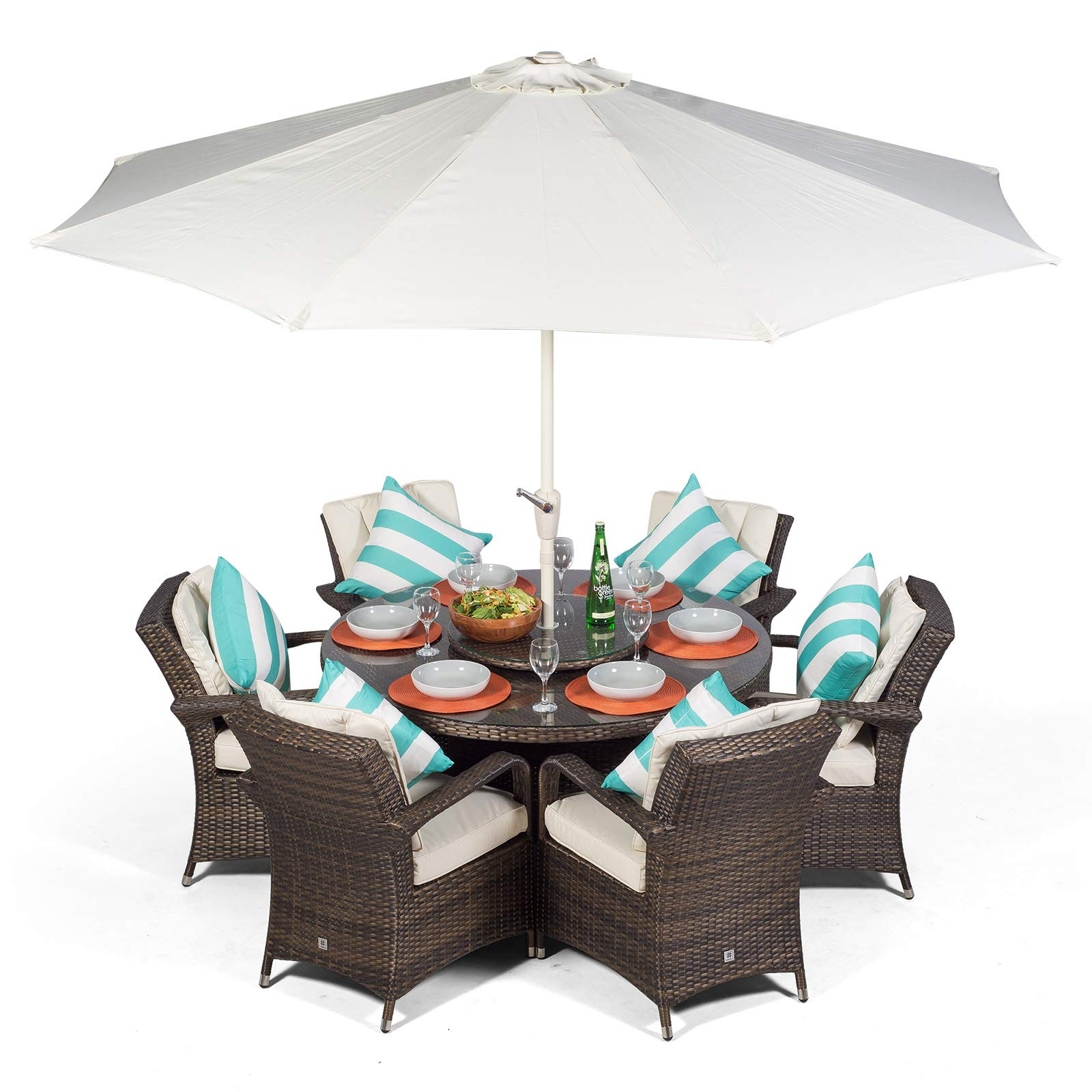 Arizona 8 Seater Rattan Dining Set