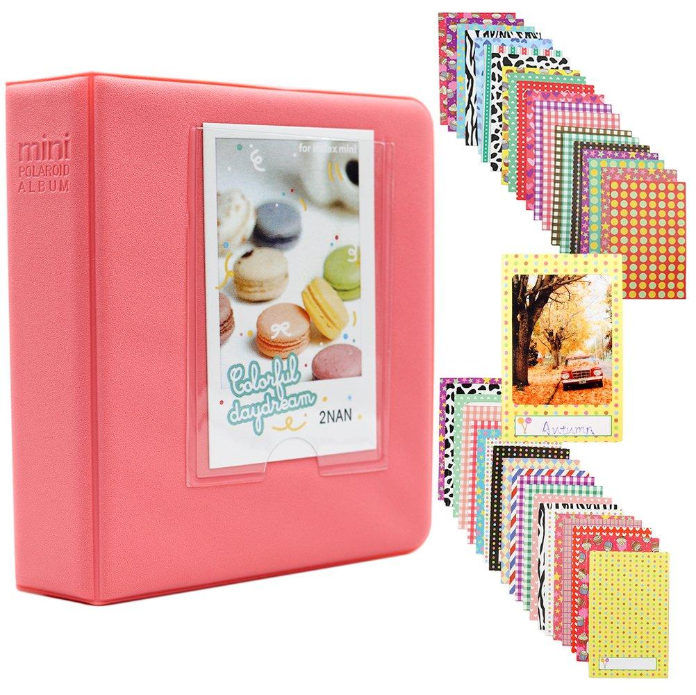Albus Store 64 Taschen Mini Fotoalbum Fr Fujifilm Instax 7s 8 Album Kamera Polaroid 2nan Colorful 9 25 26 50s 70 90 Sofortige Namenskarte Minze Kche Haushalt