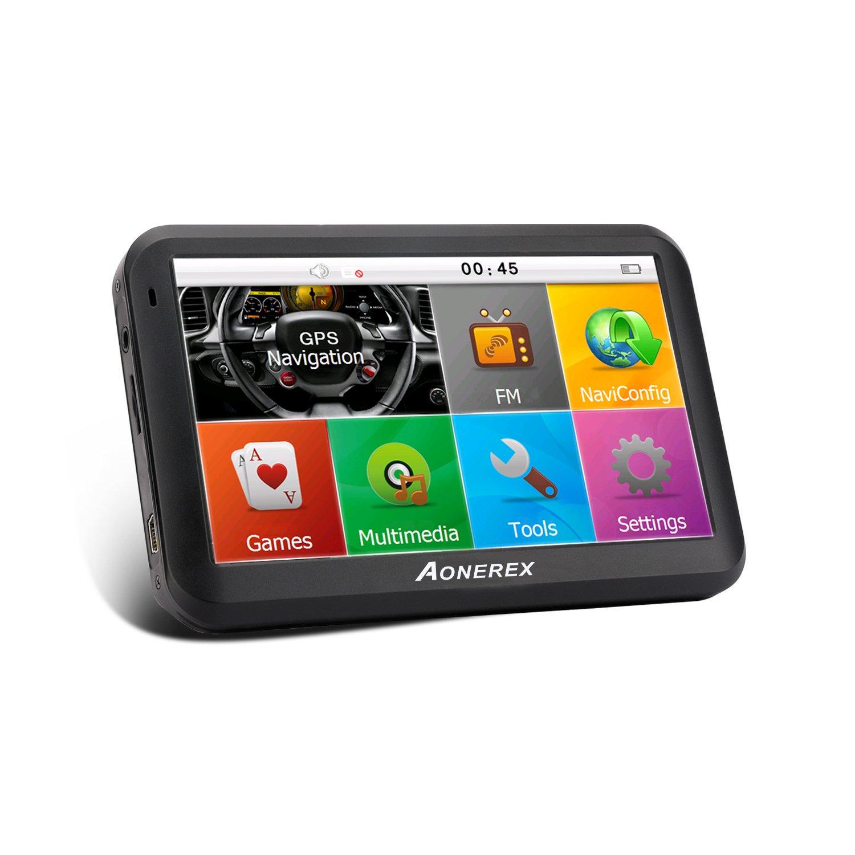 AONEREX Sat Nav GPS Navigation System, 5-Inch HD Touch Screen&Built-in  8GM-128MB Navigator System for car Navigation with UK&EU Latest 2018 Maps