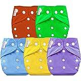 Bembika Baby Pocket Cloth Diapers Reusable Cloth Diapers Washable Adjustable Cloth Diapers One Size Adjustable Reusable (5 Pa