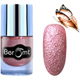 Beromt Premium Sand Matte Nail Polish, Color Crush, Party Girl Nail Paint, Nail Art Effect, Pink, 605, 10 ml