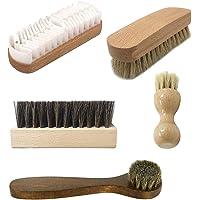 5 Pcs Brosse Cirage SEELOK Kit de Brosses à Chaussures Polissage l Nettoyage/Entretien Multifonctionne Brosses à Daim…