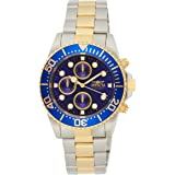 Invicta Men's Pro Diver Steel and Gold Tone Stainless Steel Quartz Watch, Two Tone (Model: 1773)
