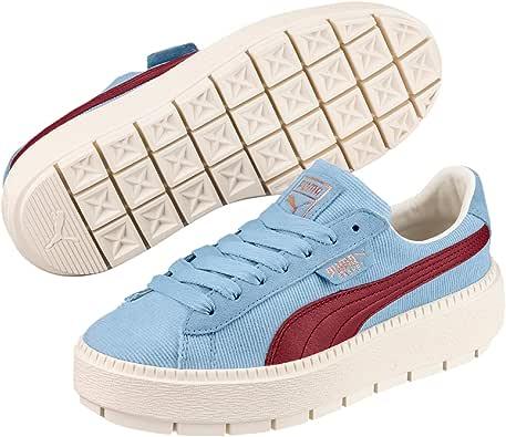 Puma Donna Cerulean Blu Corduroy Trace Platform Sneaker