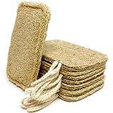 Esponja natural lavavajillas natural (paquete de 8)   estropajo ecologico, libre de plástico y biodegradable. Esponja natural