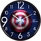 EpochCrafts Marvel Analogue Plastic Wall Clock (Blue Colour, 2 X 12 X 12 Inch) Made in India