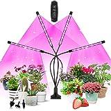 Växtlampa LED, växtljus, Corayer 80, odlingsljus, fullt spektrum, 10 dimmernivåer och 360° justerbar växtlampa med timer, 3-l