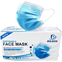 Bildos 3 Ply CE,ISO & GMP Certified Face Mask with Nose pin and Ultrasonic sealed ear loop With Melt blown Layer to…