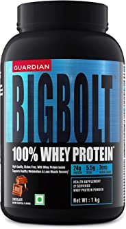 Guardian BigBolt 100% Whey Protein - 2.2 lbs, 1 Kg (Chocolate)