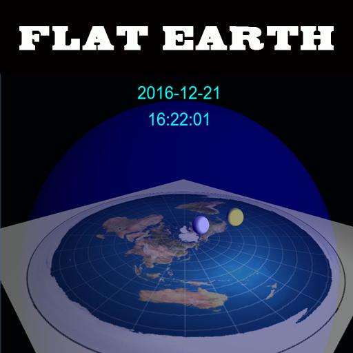 Flat Earth Digital 3D Clock Ice Dome
