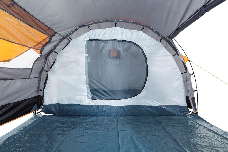 CampFeuer - Tunnel Tent, 410 x 260 x 150 cm, 4 Person, Orange / Grey / Black 6