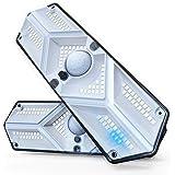 Luz Solar Exterior 104 LED Luces Solares【400LM Más Brillante & Amplio Iluminación】Foco Solar Exterior con Sensor de Movimient