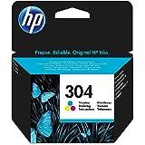 HP N9K05AE 304 Original Ink Cartridge, Tri-Color, Single Pack