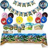 Sonic The Hedgehog Set di forniture per feste Set di stoviglie per feste di buon compleanno Include posate, tazze, tovaglie,