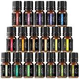 Anjou Aceites Aromaterapia 18, Aceites Esenciales Natural 100% (Lavanda, Naranja Dulce, Árbol de Té, Eucalipto, Hierba de Lim
