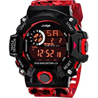 SWADESI STUFF Digital Boy's Watch (Black Dial, Multicolored Strap)