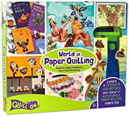 Quill On Kid's Beginners 8 Years and Above Complete Quilling Set (Multicolour, QK06)