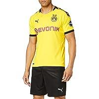 PUMA Men's BVB Home Shirt Replica with Evonik Logo with Opel Logo Short Sleeve Jersey
