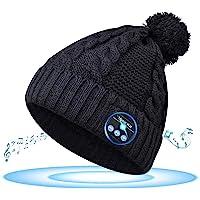 GeekerChip Gorro de Invierno Bluetooth 5.0,Regalo para Hombres,Mujeres,Gorro Bluetooth V5.0,Gorro de Punto de Invierno…