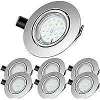 Lengjoy LED Spots Encastrables, Blanc Chaud 2700K,600lm Plafonnier Encastré,5W Equivalente de 60W Ampoule halogène,30…