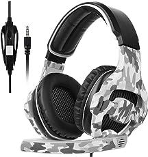 Sades 2017 Multi-Platform New Xbox one PS4 Gaming Headset, SA810 Gaming cuffie da gioco cuffie per New Xbox one / PS4 / PC/Laptop / Mac/iPad / iPod (nero e camuffamento)