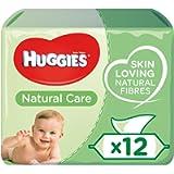 Huggies Natural Care Baby Wipes - 99 Percent Water, Sensitive, Aloe Vera, 12 Packs, 56 Count (672 Wet Wipes Total)