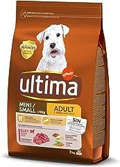 ultima Pienso para Perros Mini Adult con Buey - 3 kg