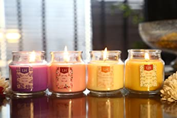 Lighthaus Candles Richly Scented Candles in Breathtaking Range of Aromas (Set of 4 )