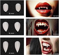 Unomor Halloween Vampirzähne Vampirgebiss Vampir Gebiss Party Cosplay Requisiten Dekoration