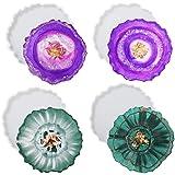 YULIN Set van 4 onderzetters van epoxyhars, siliconen vormen, onderzetters, doe-het-zelf set kunsthars gieten, hars art agaat