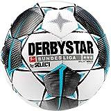 Derbystar barn Bundesliga Brillant S-Light fotboll, vit svart bensin, 4