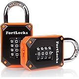 4 Digit Sturdy Lock YF17621-2 Pack Black/Orange