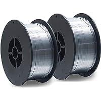 2 Stück D100 MIG MAG Fülldraht-Rolle Schweißdraht 1 KG / E71T-GS/Größe 0,8 mm/universell einsetzbar/NoGas/ohne Gas