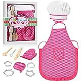 ATOPDREAM Ropa de Chef Infantil - Los Juguetes & Regalo para Niños/Cosplay Accesorios de Cocina