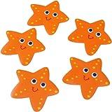 OUNONA - 5 pegatinas antideslizantes para bañera (naranja)
