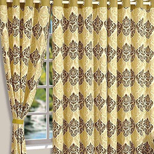 Shalinindia Baumwolle Geometrische Print Tür curtains-48X 304,8cm für Wohnzimmer Set von 2Panels, baumwolle, multi, Standard (Schiebetüren Terrasse Vorhänge)