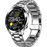 Montre Intelligente pour Homme avec tensiomètre, étanchéité IP68, fréquence Cardiaque, Compteur de Calories pour iOS et Andro