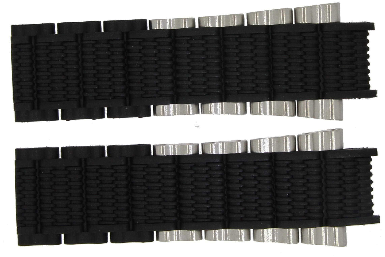 Festina Tourchrono 2014 – Marken Ersatzband aus Kautschuk/Edelstahl schwarz/silberfarben F16775