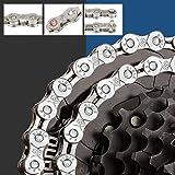 BUZIFU 6/7/8-Speed Fietsketting 116 Link Chain Plating Bike Chains Staal Hoge Sterkte Bike Derailleur Chain Anti-Roest Chain