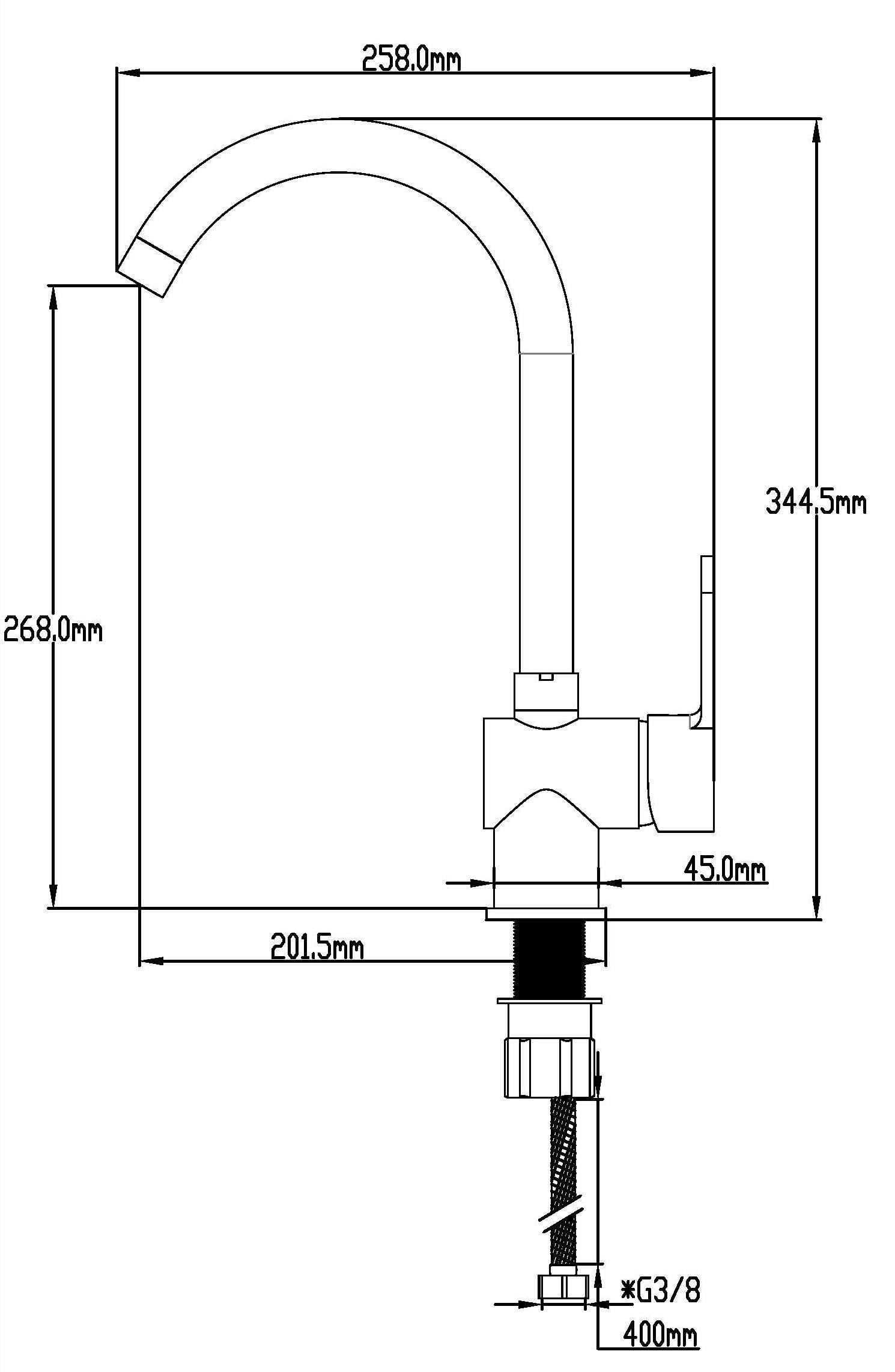 DP Grifería GC-0003 Grifo de fregadero, color plateado