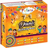pelata 7-in-1 diwali activity box, learning , educational , diy craft kit , for kids- Multi color