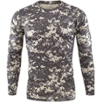 HARRYSTORE Men's Camo Tactical T-Shirts Long Sleeve Cool Dry Compression Baselayer T Shirts Outdoor Quick-Drying…