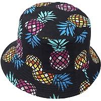 VECRY Uomo Estate Reversibile Pescatore Cappelli - Donne Frutta Stampa Pieghevole Esterno Cappellino