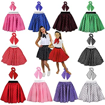 ILOVEFANCYDRESS Rock n Roll gonna costume di lunga 66 cm lunghezza a pois 12fb9f30ee8
