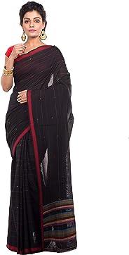 TANTUJA BENGAL HANDLOOM Self Design Tangail Handloom Saree For Women's-Black-011H8B9699/BB 07