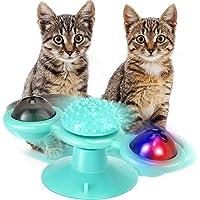 EXTSUD Windmühle Katzenspielzeug, Katzen Spielezeug mit Katzenminze und Glühender Ball LED Ball Cat Turntable Teasing…