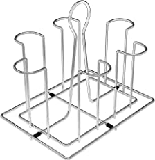SAFFRON Stainless Steel Glass Stand for Dinning Table, Glass Holder for Kitchen Tumbler Holder M-352