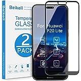 Verre Trempé Huawei P20 Lite, Beikell [Lot de 2] Couverture Complète Film Protection d'écran en Verre Trempé Film Protecteur